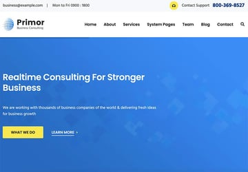Primor - Business Consulting HubSpot Theme