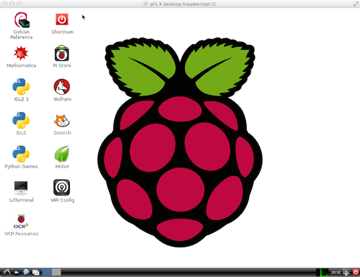 Raspberry Pi desktop at 1024x768 pixels