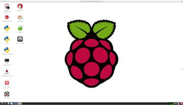 Raspberry Pi desktop at 1600x900 pixels