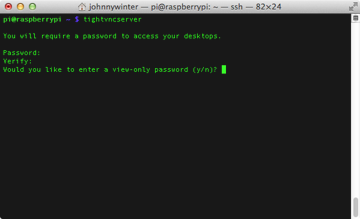 Enter a view-only password if required