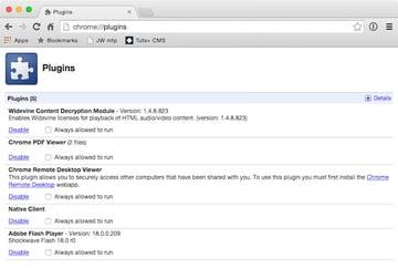 Disabling the Adobe Flash Player Plugin in Google Chrome