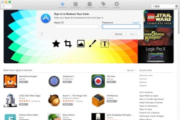 Log in to the Mac App Store in order to download the El Capitan Beta software
