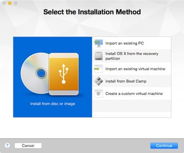 Selecting the installation method