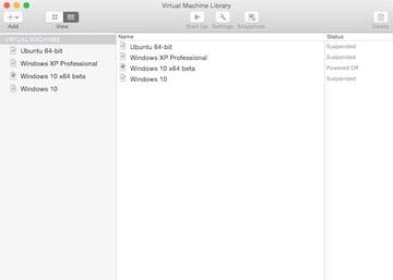 Open VMware Fusion 8