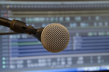 A dedicated live vocal microphone