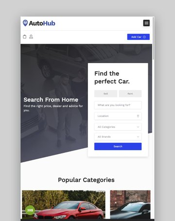 Autohub—Automotive and Car Dealer Theme