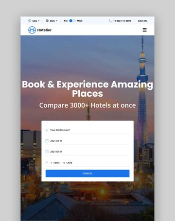 Hotelier—WordPress Hotel Booking Theme