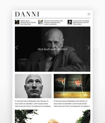 Danni Minimalist WordPress Authors Theme