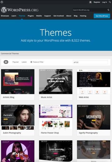 Kostenlose WordPress-Themes für Künstler