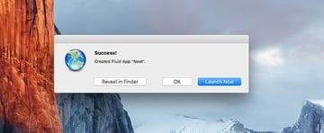 Successful created of the Fluid Nest app
