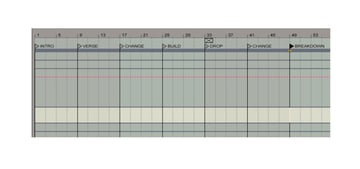 Having arrangement markers set up like this keeps you focused on progressing the track