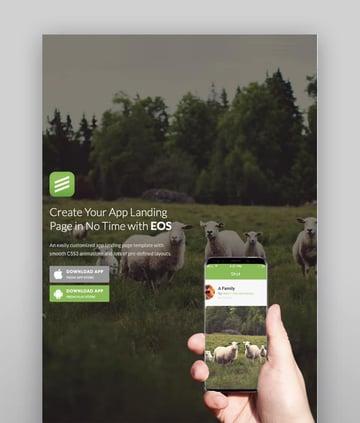 EOS—A Responsive App Landing Theme