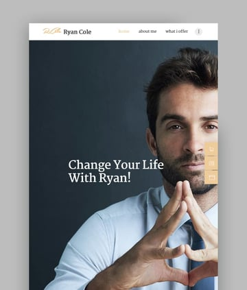 RCole  Life  Business Coaching WordPress Theme