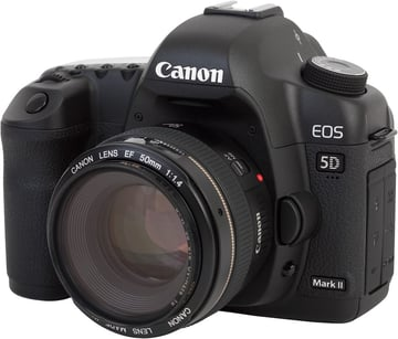 A modern Digital Single Lens Reflex camera dSLR