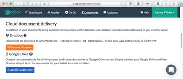 Cloud Document Delivery automagically saves new bills to Dropbox andor Google Drive storage