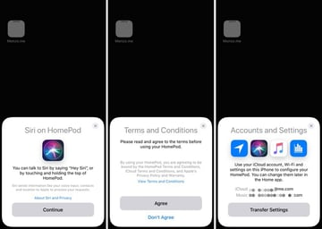 Setting up an Apple HomePod with an iPhone X