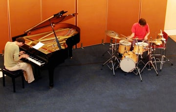 Pianist and drummer