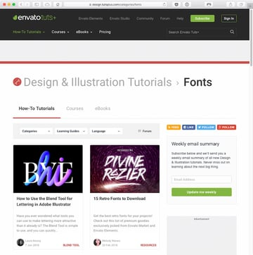 Envato Tuts publishes many tutorials to inspire enthusiasts and professionals