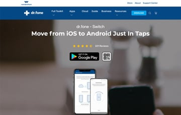Download the desktop app from the drfone Switch Website