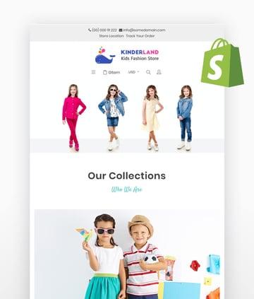 Kinderland Kids Fashion Store Shopify Theme