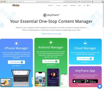 AnyTrans the One-Stop Content Manager