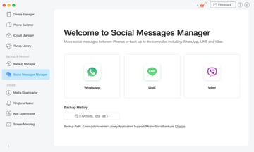 AnyTrans Social Messages Manager