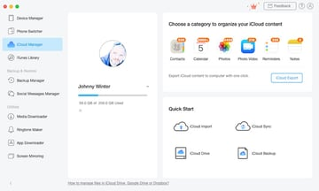 AnyTrans iCloud Manager
