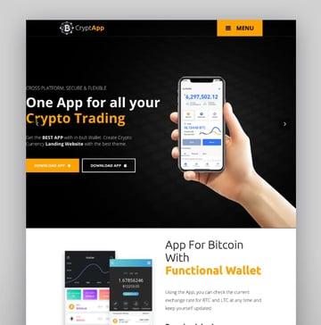 CryptApp - Página de aterrizaje para criptomonedas