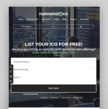 Numismatico - Tema de WordPress para directorio de criptomonedas