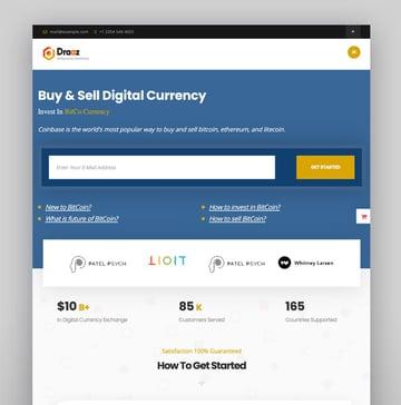 Draaz - Tema de WordPress para Bitcoin y negocio de criptomonedas