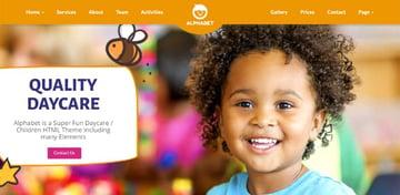 Alphabet - Kids Children WordPress Theme