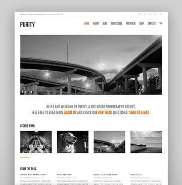 Purity—Responsive, Minimal and Bold WordPress Theme