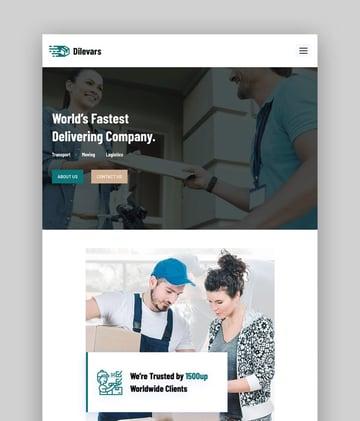 Dilevars—Transportation and Logistics Services WordPress Theme