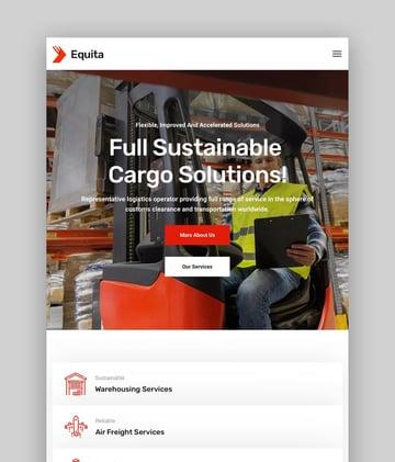 Equita—Logistics Cargo WordPress Theme