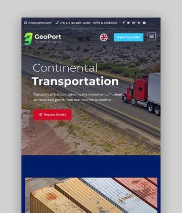Geoport—Transport and Logistics WordPress Theme