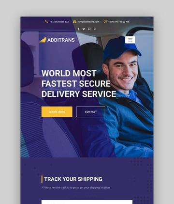 Additrans—Transport and Logistics WordPress Theme