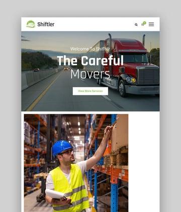 Shiftler—Transportation and Logistics WordPress Theme