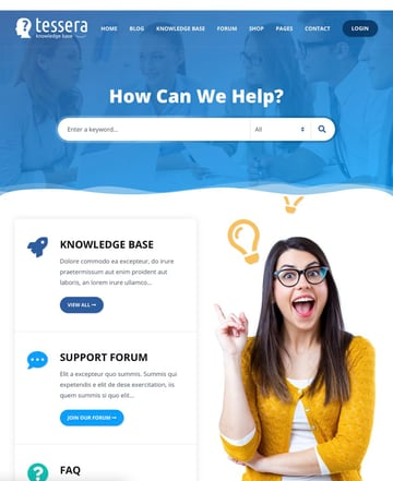 Tessera - Tema de base de conocimiento para WordPress