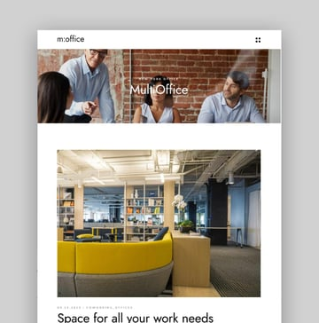 MultiOffice—Coworking Space Theme
