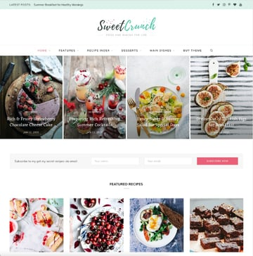 CheerUp—Food, Blog and Magazine WordPress Theme