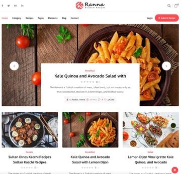 Ranna—Food and Recipe WordPress Theme