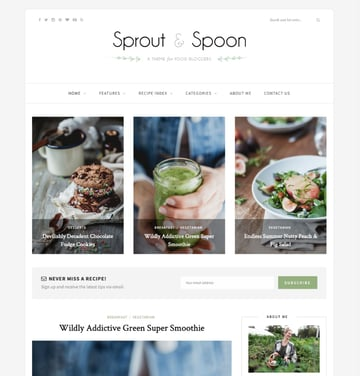 Sprout and Spoon—A WordPress Theme for Food Bloggers