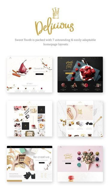 Sweet Tooth—Delicious Cake Shop Theme