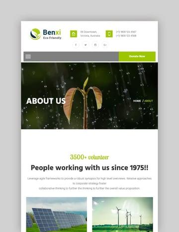 Benxi—Environment WordPress Theme