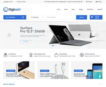 Digitech—Technology Theme for WooCommerce WordPress