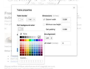 Tweak google docs table borders