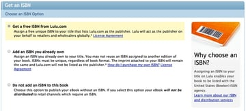 Get a Free ISBN from Lulu