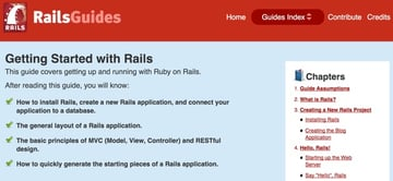 What is Ruby on Rails Getting Started