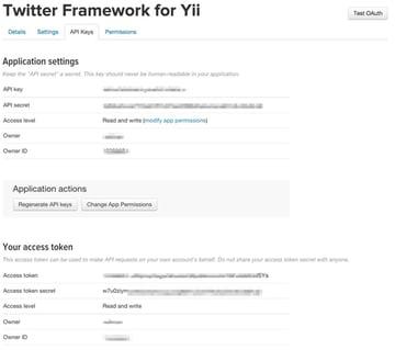 Twitter API Application Keys