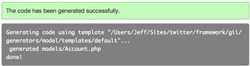 Gii Model Code Successfully Generated